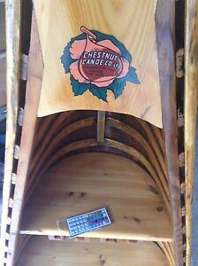 Canoe wine rack
