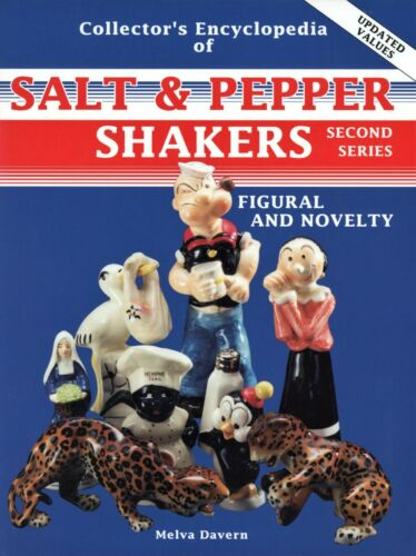 Vintage Ceramic Salt Pepper Shakers - Figural and Novelty Themes / Book + Values
