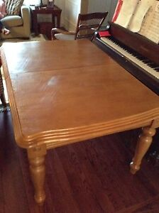 Solid wood table $150