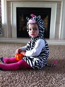 6-9 month zebra costume for sale.