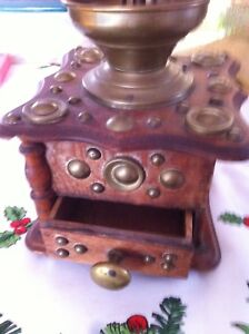 Antique vintage coffee grinder
