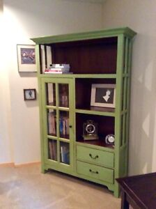 Cabinet, Off White Shag Rug, Upholstered Ikea Chair REDUCED!