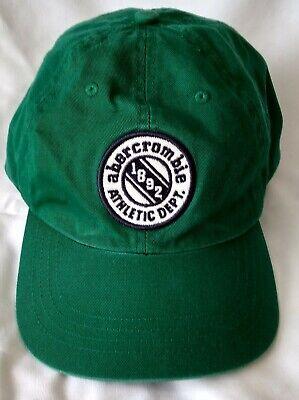 Abercrombie Athletic Dept. Cap Hat Green-Adult Size Medium