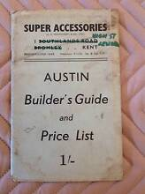 AUSTIN SEVEN SPECIAL BUILDERS GUIDE &PRICE LIST-VERY COLLECTIBLE Mannum Mid Murray Preview