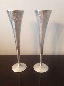 SILVER 25TH ANNIVERSARY GOBLETS