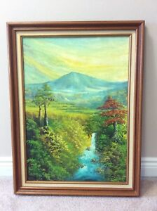 Framed Oil Canvas Painting