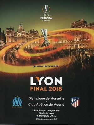 Atletico Madrid v Marseille - UEFA Europa League Final - 16 May 2018 - IN STOCK.
