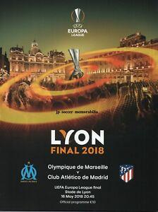 Atletico Madrid v Marseille - UEFA Europa League Final - 16 May 2018 - IN STOCK.