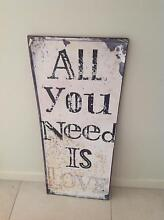 Vintage style tin sign approx 76cm tall Griffin Pine Rivers Area Preview
