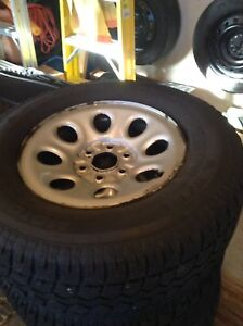 """17"""" WINTER TIRES WITH RIMS"""