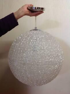 Retro Vintage 70's Style Clear Spaghetti Glass Disco Sphere Ball