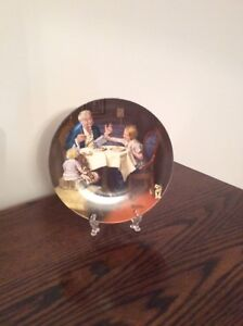 """Norman Rockwell Limited Edition  collector plate """"The Gourmet"""""""