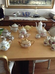 Variety of tea pots