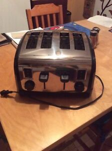 Beau grille-pain/toaster double à 4 tranches