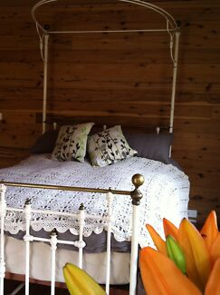 Antique brass & iron double bed