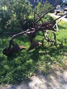 Vintage two furrow plough