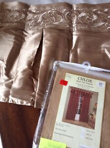Gold Embroidered Window Valance new in package