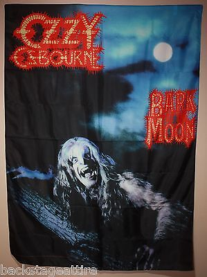 Ozzy Osbourne Bark at the Moon Black Sabbath Cloth Poster Flag Fabric Banner-New