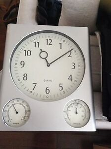 Wall clock temperature as well