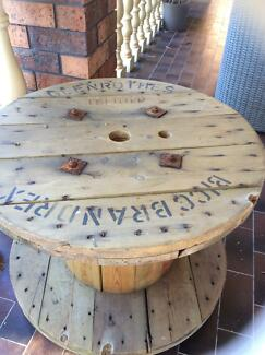 Rustic  cable  reel table Grays Point Sutherland Area Preview