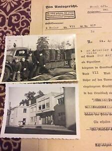 ORIGINAL GERMAN WW2 1944 DATED LEGAL LETTER, FOLDING TYPE & PHOTO Koondoola Wanneroo Area Preview