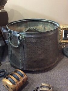 HUGE copper cauldron