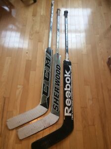 Goalie Sticks CCM, Sherwood & Reebok 27 inch