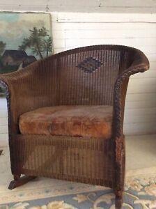 Antique Wicker Rocking Chair excellent condition