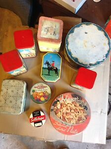 tins assorted