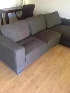 Freedom furniture couch with chaise