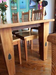 Solid maple dining table and chairs Caringbah Sutherland Area Preview