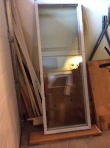 Glass inserts for patio door