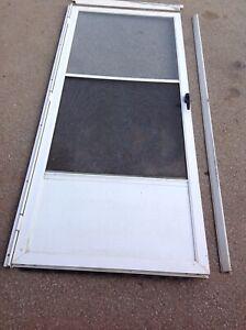 """Aluminum white Storm door for 2'10""""exterior door 33 1/4"""" x 79""""H"""
