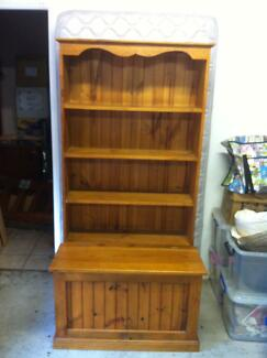 Combined timber bookshelf and toychest - great for kids Denistone Ryde Area Preview