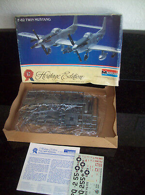 OLDER MONOGRAM HERITAGE EDITION F-82 TWIN MUSTANG PLANE 1/72 SCALE  MODEL KIT for sale  Citrus Heights