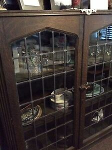 Antique Solid Wood China Cabinet