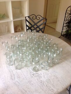 GLASS JARS FOR TEALIGHT CANDLES