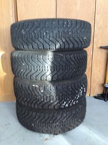 Winter tires including rims - set of 4. REDUCED! Moving sale!