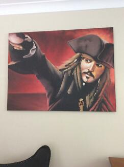 Pirates of the Caribbean art work (captain jack sparrow)