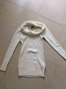 6afc6e3ff09 BNWOT H M Divided cream knitted woollen jumper dress