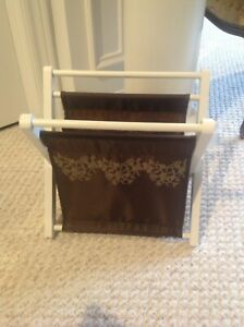 Magazine or book rack or craft basket excellent condition