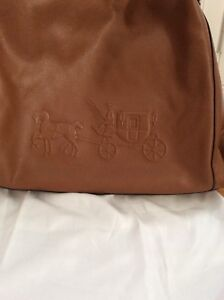 Coach Edie handbag with wallet & wristlet luggage brown