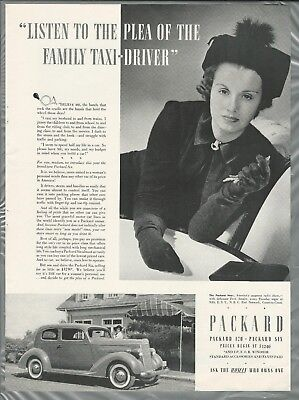 1936 PACKARD advertisement, Canadian ad, Packard Six a woman's car for sale  Hubbards