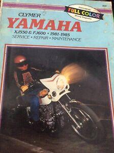 1981-1985 Yamaha XJ550 FJ600 Service Manual