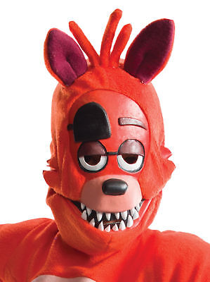 Five Nights At Freddy's Foxy Child 3/4 Latex Mask Halloween Rubies - Five Nights At Freddy's 4 Halloween