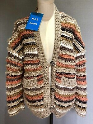 MIH Jeans Super Chunky Alpaca Blend Cardigan RRP £365 Size: XS BNWT