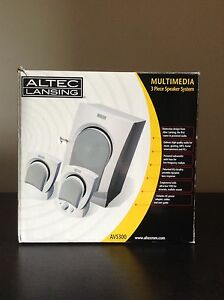 Altec Lansing 3 Piece Speaker System Set AVS00 3 Piece