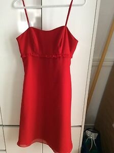 Red Dress weeding graduation bal evening !!!!!size 10