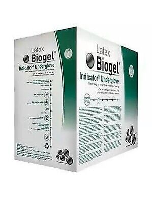 50 Pairs Molnlycke 31260-01 Latex Biogel Surgical Gloves Powder-free Size 6