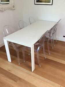 White Kartell dining table in great condition Stanmore Marrickville Area Preview